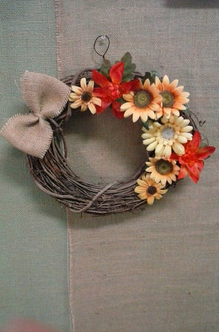 Primitive fall holiday branch wreath