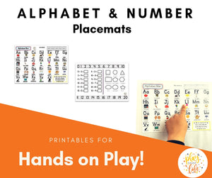 Alphabet & Number Placemats