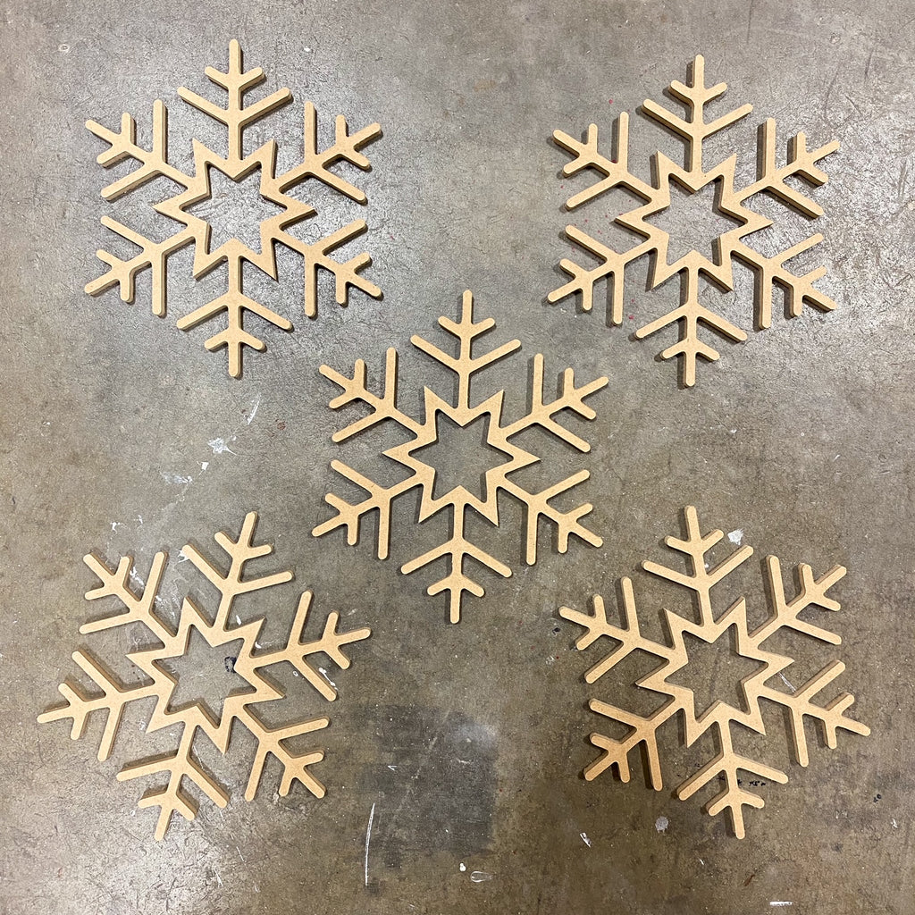 Snowflake Set of 5  - Unfinished
