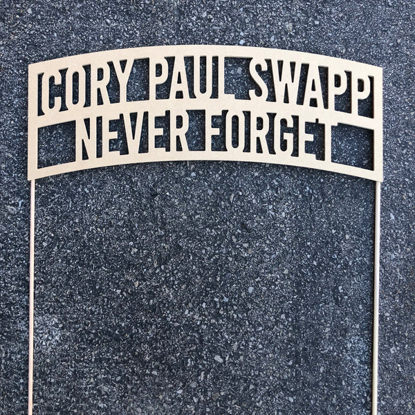 Custom Cemetery Sign - Raw