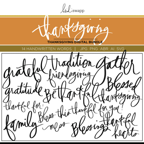 Digital Thanksgiving Bundle