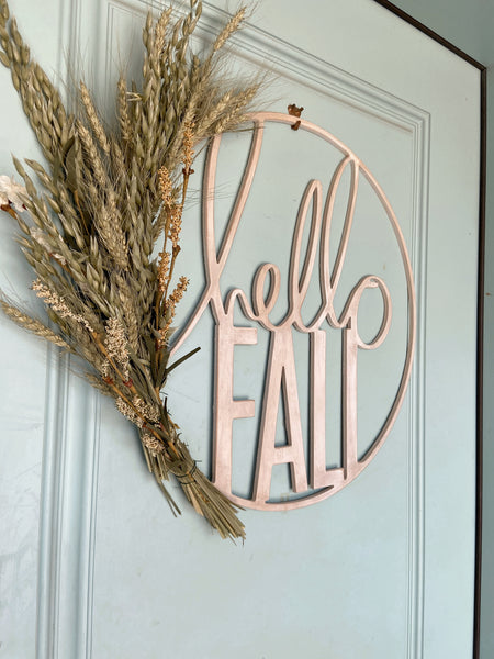 Hello Fall Hoop - Unfinished