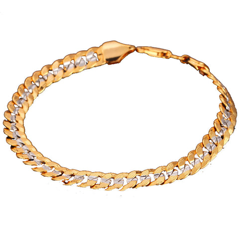 18K Two Tone Gold Plated Bracelet