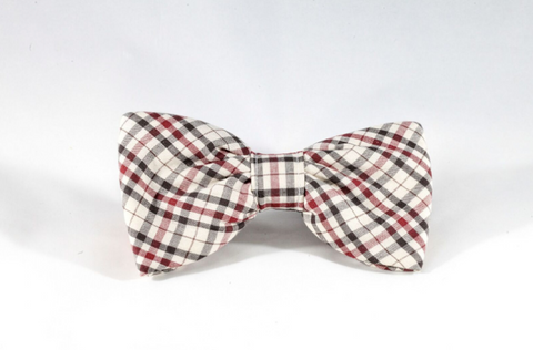 The Dapper Gent Classic Dog Bow Tie Tan and Maroon