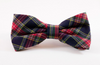 Classic Black and Red Tartan Plaid Dog Bow Tie
