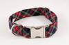 Classic Black and Red Tartan Plaid Dog Bow Tie Collar