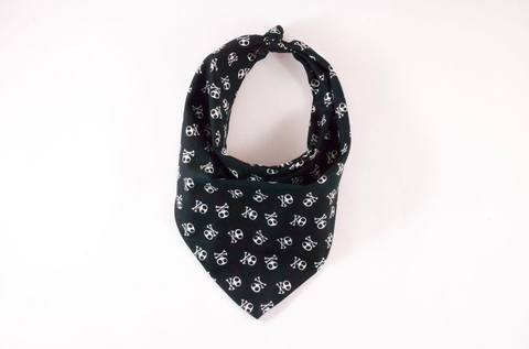 Skull and Cross Bones Monogrammed Dog Bandana