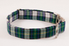 Green and Blue Prep School Plaid Bow Tie Dog Collar