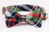 Montauk Madras Bow Tie Dog Collar