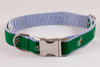 Hunt Club Equestrian Seersucker Dog Collar