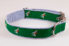 Hunt Club Equestrian Seersucker Bow Tie Dog Collar