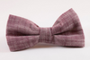 Plum Chambray Bow Tie Dog Collar