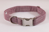 Plum Chambray Dog Collar