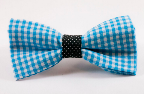 Carolina Panthers Blue and Black Dog Bow Tie