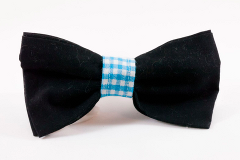 Carolina Panthers Black and Blue Dog Bow Tie