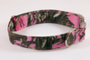 Pretty Pink Sporting Girl Camo Bow Tie Dog Collar