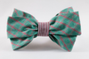 Green and Red Christmas Plaid Seersucker Girl Bow Tie Dog Collar