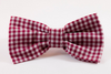 Garnet Gingham Gamecocks Dog Bow Tie