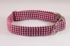 Garnet and Black Gingham Gamecocks Girl Dog Flower Bow Tie Collar