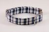 Navy Blue Madras Dog Collar