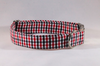 Preppy Black and Red Gingham Georgia Bulldogs Dog Collar