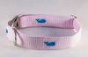 Preppy Pink Seersucker Whale Girl Bow Tie Dog Collar