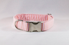 Preppy Pink and Orange Sherbet Seersucker Girl Dog Flower Bow Tie Dog Collar