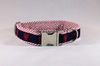 Preppy Seersucker Lobster Dog Collar