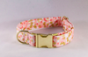 Champagne Pop Pink and Gold Polka Dot Dog Bow Tie Collar