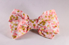 Champagne Pop Pink and Gold Polka Dot Girl Dog Bow Tie--Valentine's Day