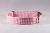 Preppy Pink Gingham Bow Tie Dog Collar