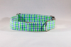 Preppy Blue and Green Gingham Dog Bow Tie Collar