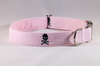 Preppy Pink Skull and Crossbones Girl Dog Collar