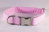 Preppy Pink Seersucker Bow Tie Dog Collar