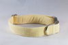 Preppy Yellow Seersucker Bow Tie Dog Collar
