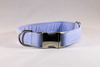 Preppy Blue Oxford Bow Tie Dog Collar