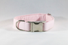 Preppy Pink Oxford Bow Tie Dog Collar