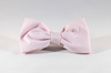 Preppy Pink Oxford Dog Bow Tie