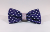 Preppy Red White and Blue Patriotic Pup Seersucker Dog Bow Tie