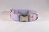 Preppy Purple and Orange Clemson Tigers Seersucker Girl Dog Flower Bow Tie Collar