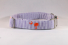Preppy Purple and Orange Clemson Tigers Seersucker Dog Collar
