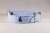 Preppy Blue Sailboat Seersucker Dog Collar