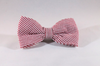 Preppy Red Seersucker Bow Tie Dog Collar
