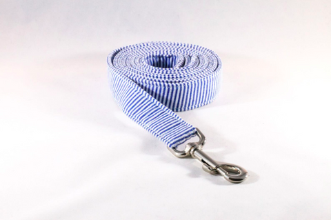 4 Foot Seersucker Preppy Dog Leash