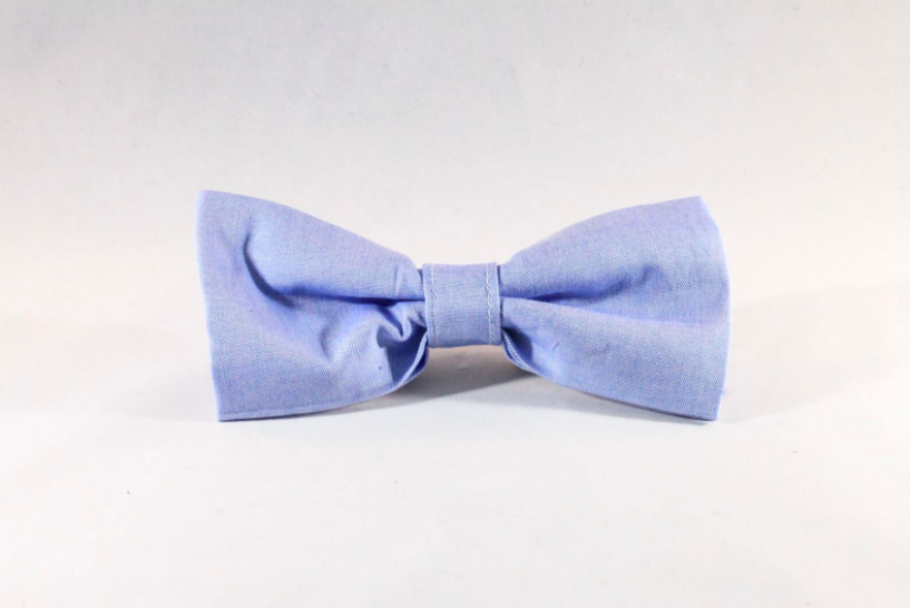 Preppy Classic Oxford Blue Dog Bow Tie