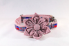 Repuplican Seersucker Girl Dog Flower Bow Tie Collar
