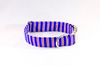 Preppy Red White and Blue Patriotic Stripes Dog Collar