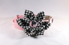 Crimson Tide Alabama Seersucker Houndstooth Bear Bryant Girl Dog Flower Bow Tie Collar