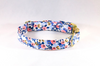 Periwinkle Les Fleurs Girl Dog Flower Bow Tie Collar