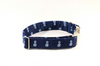 Preppy Blue Denim Pineapple Bow Tie Dog Collar